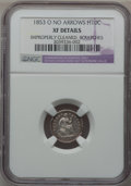 Seated Half Dimes, 1853-O H10C No Arrows -- Improperly Cleaned, Scratches -- NGCDetails. XF....