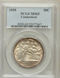 Commemorative Silver: , 1935 50C Connecticut MS65 PCGS. PCGS Population (1205/542). NGCCensus: (1247/522). Mintage: 25,018. Numismedia Wsl. Price ...