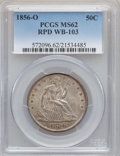 Seated Half Dollars, 1856-O 50C MS62 PCGS. WB-103....
