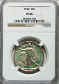 Proof Walking Liberty Half Dollars: , 1940 50C PR66 NGC. NGC Census: (763/386). PCGS Population(799/320). Mintage: 11,279. Numismedia Wsl. Price for problemfre...
