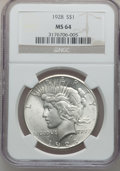 Peace Dollars, 1928 $1 MS64 NGC....