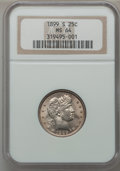 Barber Quarters, 1899-S 25C MS64 NGC....