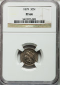 Proof Three Cent Nickels: , 1879 3CN PR64 NGC. NGC Census: (168/546). PCGS Population(265/518). Mintage: 3,200. Numismedia Wsl. Price for problemfree...