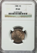 Proof Liberty Nickels: , 1888 5C PR65 NGC. NGC Census: (251/98). PCGS Population (183/76).Mintage: 4,582. Numismedia Wsl. Price for problem free NG...