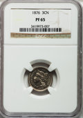 Proof Three Cent Nickels: , 1876 3CN PR65 NGC. NGC Census: (97/29). PCGS Population (85/11).Mintage: 1,150. Numismedia Wsl. Price for problem free NGC...