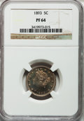 Proof Liberty Nickels: , 1893 5C PR64 NGC. NGC Census: (119/153). PCGS Population (192/112).Mintage: 2,195. Numismedia Wsl. Price for problem free ...