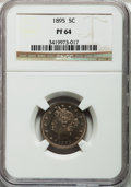 Proof Liberty Nickels: , 1895 5C PR64 NGC. NGC Census: (149/139). PCGS Population (251/98).Mintage: 2,062. Numismedia Wsl. Price for problem free N...