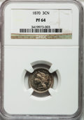 Proof Three Cent Nickels: , 1870 3CN PR64 NGC. NGC Census: (112/96). PCGS Population (124/68).Mintage: 1,000. Numismedia Wsl. Price for problem free N...