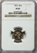 Proof Three Cent Nickels: , 1872 3CN PR65 NGC. NGC Census: (138/24). PCGS Population (88/19).Mintage: 950. Numismedia Wsl. Price for problem free NGC/...