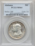 Commemorative Silver: , 1921 50C Alabama MS64 PCGS. PCGS Population (818/519). NGC Census:(796/447). Mintage: 59,038. Numismedia Wsl. Price for pr...