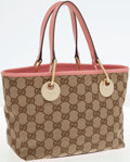 Luxury Accessories:Bags, Gucci Classic Monogram Canvas and Pink Leather Small Tote Bag. ...