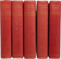 Books:Fine Bindings & Library Sets, H. G. Wells. The Works of H. G. Wells. London: T. Fisher Unwin, Ltd., 1924-1927. Atlantic Edition. One of twenty p... (Total: 28 Items)