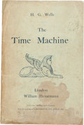 Books:Science Fiction & Fantasy, H. G. Wells. The Time Machine. London: Heinemann, 1895.First edition in wrappers, issued simultaneously with th...