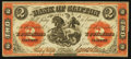 Canadian Currency: , Clifton, PC - The Bank of Clifton $2 Sep. 1, 1861 Ch. # 125-12-12....