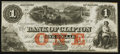 Canadian Currency: , Clifton, PC- The Bank of Clifton $1 Oct. 1, 1859 Ch. #125-10-04-02. ...