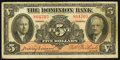 Canadian Currency: , Toronto, ON - The Dominion Bank $5 Jan. 2, 1935 Ch. # 220-26-02. ...