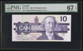 Canadian Currency: , BC-57aA $10 1989 Replacement Note. ...