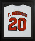 Baseball Collectibles:Uniforms, Frank Robinson Signed Baltimore Orioles Jersey Display. ...