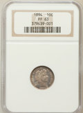 Proof Barber Dimes: , 1894 10C PR63 NGC. NGC Census: (27/215). PCGS Population (51/228).Mintage: 972. Numismedia Wsl. Price for problem free NGC...