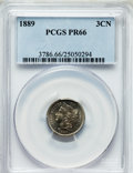 Proof Three Cent Nickels: , 1889 3CN PR66 PCGS. PCGS Population (255/52). NGC Census: (226/50).Mintage: 3,436. Numismedia Wsl. Price for problem free ...
