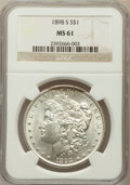 Morgan Dollars: , 1898-S $1 MS61 NGC. NGC Census: (166/1658). PCGS Population(143/3248). Mintage: 4,102,000. Numismedia Wsl. Price for probl...