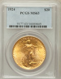 Saint-Gaudens Double Eagles: , 1924 $20 MS63 PCGS. PCGS Population (79315/129058). NGC Census:(101677/138432). Mintage: 4,323,500. Numismedia Wsl. Price ...