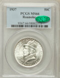 Commemorative Silver: , 1937 50C Roanoke MS66 PCGS. CAC. PCGS Population (1157/295). NGCCensus: (952/244). Mintage: 29,030. Numismedia Wsl. Price ...