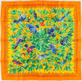 "Luxury Accessories:Accessories, Hermes Orange, Yellow, and Green ""Les Merises,"" by Antoine deJacquelot Silk Scarf. ..."