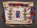 American Indian Art:Beadwork and Quillwork, A SIOUX BEADED HIDE TIPI BAG. c. 1900...