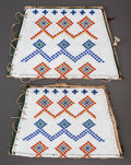 American Indian Art:Beadwork and Quillwork, A PAIR OF CREE GIRL'S BEADED HIDE LEGGINGS...