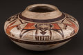 American Indian Art:Pottery, A HOPI POLYCHROME JAR. c. 1900...