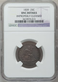 Seated Quarters, 1839 25C No Drapery -- Improperly Cleaned -- NGC Details. Unc. NGCCensus: (0/35). PCGS Population (0/38). Mintage: 491,146...