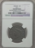 Large Cents, 1824/2 1C -- Improperly Cleaned -- NGC Details. AU. N-1. NGCCensus: (1/13). PCGS Population (3/13). Mintage: 1,262,000. Nu...