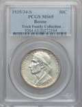 Commemorative Silver: , 1935/34-S 50C Boone MS65 PCGS. PCGS Population (203/116). NGCCensus: (180/106). Mintage: 2,004. Numismedia Wsl. Price for ...