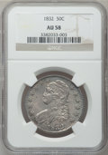 Bust Half Dollars: , 1832 50C Small Letters AU58 NGC. NGC Census: (446/485). PCGSPopulation (292/344). Mintage: 4,797,000. Numismedia Wsl. Pric...