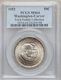 Commemorative Silver: , 1952 50C Washington-Carver MS64 PCGS. EX:Teich Family Collection.PCGS Population (2169/1512). NGC Census: (1504/1554). Min...