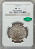 Seated Half Dollars: , 1872-S 50C AU58 NGC. CAC. NGC Census: (5/15). PCGS Population(1/16). Mintage: 580,000. Numismedia Wsl. Price for problem f...