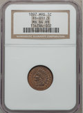 Indian Cents, 1897 1C MS64 Red and Brown NGC. Snow-1, FS-401....