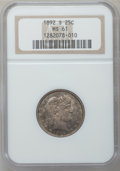 Barber Quarters: , 1892-S 25C MS61 NGC. NGC Census: (7/55). PCGS Population (4/77).Mintage: 964,079. Numismedia Wsl. Price for problem free N...