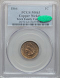Indian Cents: , 1864 1C Copper-Nickel MS63 PCGS. CAC. PCGS Population (425/618).NGC Census: (263/520). Mintage: 13,740,000. Numismedia Wsl...