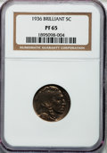 Proof Buffalo Nickels, 1936 5C Type Two--Brilliant Finish PR65 NGC....