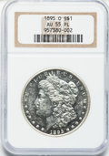 Morgan Dollars, 1895-O $1 AU55 Prooflike NGC....