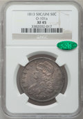 Bust Half Dollars: , 1813 50C 50C Over UNI XF45 NGC. CAC. O-101a. NGC Census: (13/215).PCGS Population (21/54). Numismedia Wsl. Price for pro...