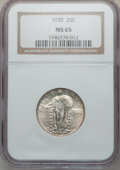Standing Liberty Quarters: , 1930 25C MS65 NGC. NGC Census: (85/33). PCGS Population (188/67).Mintage: 5,632,000. Numismedia Wsl. Price for problem fre...