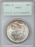 Morgan Dollars, 1881-S $1 MS63 PCGS; (2)1883-O MS63 PCGS; 1884-O MS63 PCGS;(2)1885-O MS63 PCGS and an 1886 MS63 PCGS.... (Total: 7 coins)