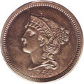 Patterns: , 1854 P1C One Cent, Judd-160, Pollock-187, R.4, PR64 Brown PCGS. Theobverse is similar to that used on regular issue 1854 c...