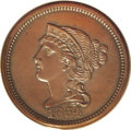 Patterns: , 1854 P1C One Cent, Judd-160, Pollock-187, R.4, PR65 Brown PCGS. Theobverse is similar to that used on regular issue 1854 c...