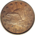 Patterns: , 1855 P1C Flying Eagle Cent, Judd-167 Original, Pollock-193, R.4,PR64 Brown PCGS. A flying Eagle cent pattern in a large fo...
