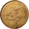 Patterns: , 1858 P1C Flying Eagle Cent, Judd-204, Pollock-248, R.5, PR64 PCGS.Ex: New Millennium Collection. Flying Eagle pattern cent...