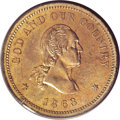 Patterns: , 1863 Two-Cents, Judd-310, Pollock-375, R.7, PR64 PCGS. The reverse closely resembles the regular dies 1864 two cent piece, w...